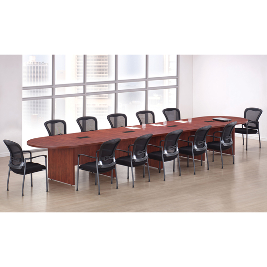 Racetrack Conference Table with Slab Base